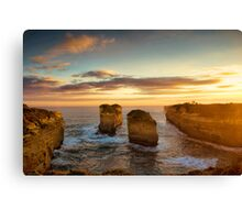 Sunset over Loch Ard Gorge with Topaz Effect Canvas Print