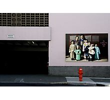 the lee mong kow family memorial parkade and fire hydrant Photographic Print
