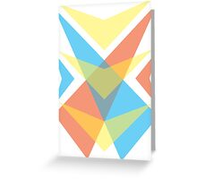 Primary Colors gear - opacity Greeting Card