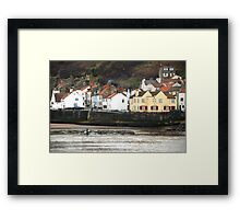The Captain Cook inn, at Staithes, North Yorkshire Framed Print