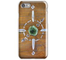 Green Garnet Crystal Grid iPhone Case/Skin