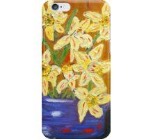 yellow daffodils, southwest art, home decor, original art iPhone Case/Skin