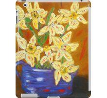yellow daffodils, southwest art, home decor, original art iPad Case/Skin