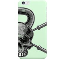Kettlebell Crossed Barbells (washed out) iPhone Case/Skin