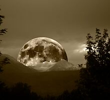 SEPIA RISING MOON by Charlene Aycock