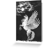 Moon Stallion Greeting Card