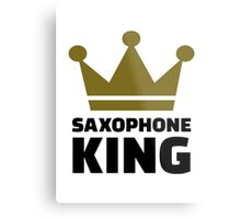Saxophone king crown Metal Print