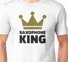 Saxophone king crown Unisex T-Shirt
