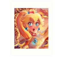 Fire Princess Peach Portrait Art Print