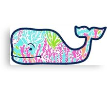 Vineyard Vines Lilly Pulitzer Coral Whale Canvas Print