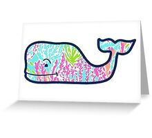Vineyard Vines Lilly Pulitzer Coral Whale Greeting Card