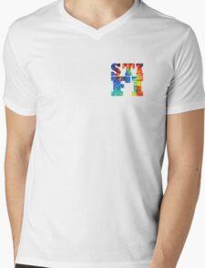 STIFI Sticky Fingers Logo Mens V-Neck T-Shirt