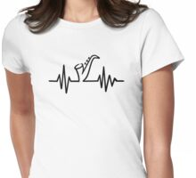 Saxophone frequency Womens Fitted T-Shirt