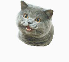 Happy Cat Plain Meme Unisex T-Shirt