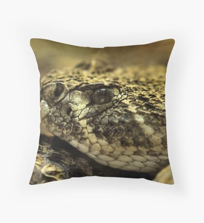 Western Diamondback Rattler  Throw Pillow