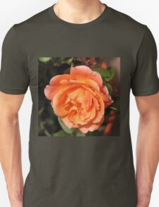 Orange Wildfire - Miniature Rose Unisex T-Shirt
