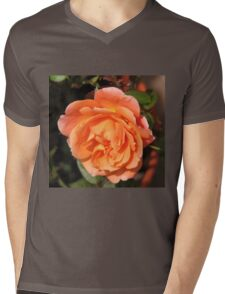 Orange Wildfire - Miniature Rose Mens V-Neck T-Shirt