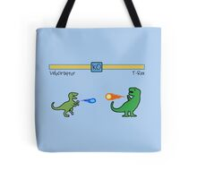 Dinosaur Fighter Game - Velociraptor vs T-Rex Tote Bag