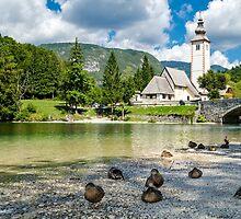 Church of St John the Baptist, Bohinj Lake, Slovenia by MarcoSaracco