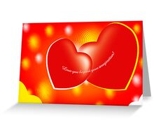 Love you beyond your imagination! Greeting Card