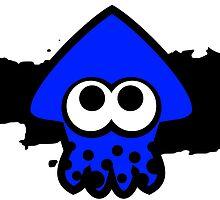 Splatoon Squid (Dark Blue) by RocketClauncher
