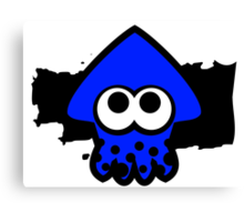 Splatoon Squid (Dark Blue) Canvas Print