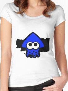 Splatoon Squid (Dark Blue) Women's Fitted Scoop T-Shirt