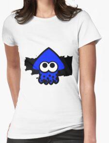 Splatoon Squid (Dark Blue) Womens Fitted T-Shirt