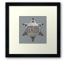 Kimmy Schmidt: the Stranger Danger Ranger Framed Print