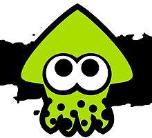 Splatoon Squid (Green) by RocketClauncher