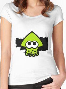 Splatoon Squid (Green) Women's Fitted Scoop T-Shirt