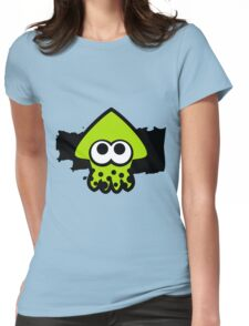 Splatoon Squid (Green) Womens Fitted T-Shirt