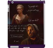 """I dreamed of you,"" | Brienne & Jamie Lannister | GOT iPad Case/Skin"