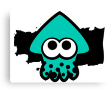 Splatoon Squid (Light Blue) Canvas Print