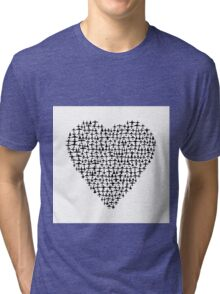 Heart - Airplane / Fighter Jets Tri-blend T-Shirt