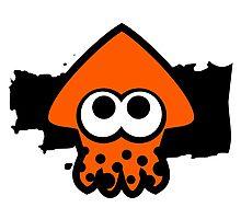Splatoon Squid (Orange) Photographic Print