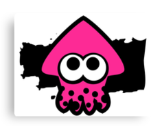 Splatoon Squid (Pink) Canvas Print