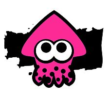 Splatoon Squid (Pink) Photographic Print