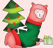 Christmas Alpaca by Mika Babineau