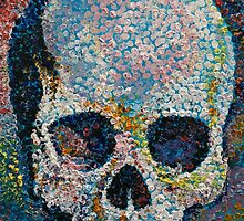 Pointillism Skull by Michael Creese