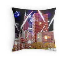 Illuminating Chicago Throw Pillow