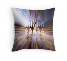Stained Glass Zoom  Throw Pillow