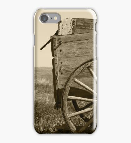 Antique Wooden Wagon in a Field iPhone Case/Skin