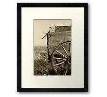Antique Wooden Wagon in a Field Framed Print
