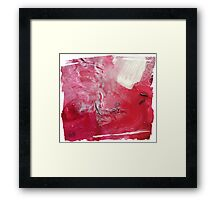 Palette Art - Abstract Pink and Red Framed Print