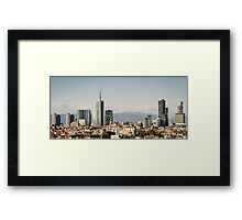 Milano (Italy), skyline with new skyscrapers Framed Print