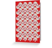 64 Controller Pattern Greeting Card