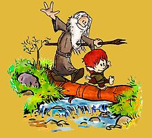 Gandalf and Bilbo calvin hobes by hudson481