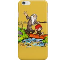 Gandalf and Bilbo calvin hobes iPhone Case/Skin