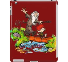 Gandalf and Bilbo calvin hobes iPad Case/Skin